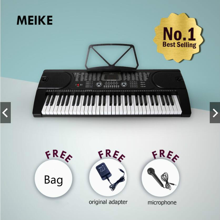 MK-2089 <font><b>61</b></font> Tasten Digital <font><b>Piano</b></font> Elektronische Tastatur Paket Musical Instruments für Anfänger oder Teachere Baby Ducation image