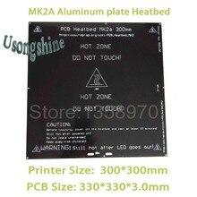 1 шт. MK2A 300*300 мм (3.0 мм) RepRap ПЛАТФОРМЫ 1.4 печатной платы Алюминий Heatbed Hot Plate Для Пруса и mendel для 3D-принтеры на линейный руководство