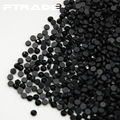 SS6-SS30 1440pcs Black Color Hot Fix Glass Rhinestones Strass Flatback Hotfix Crystal Stone For Clothing,Bridal Shoes