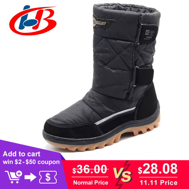 LIBANG 2018 Brand Men Winter Shoes Warm Male Winter Boots Snow Boots Winter Shoes for Men Fashion Soft Men Shoes Plus Size 41-46 libang 2018 brand men winter shoes warm male winter boots snow boots winter shoes for men fashion soft men shoes plus size 41 46
