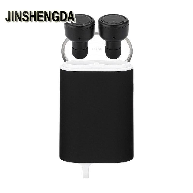 JINSHENGDA Wireless Bluetooth Earphone H2 TWS Wireless Bluetooth Dual Earphone Stereo Earbud In-ear With Charging Box 2 in 1 wireless bluetooth earphone