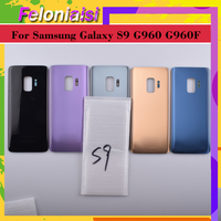 battery samsung galaxy 10pcs/ For Samsung Galaxy S9 G960 G960F SM-G960F Housing Battery Cover Back Case Rear Door Chassis S9 Housing Shell Replacement (2)