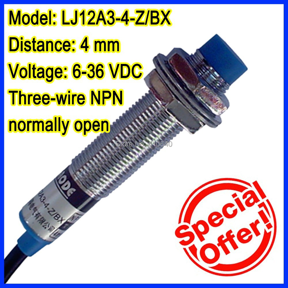 Lj12a3 4 Z Bx Free Shipping 4mm Inductive Proximity Switch Three Sensor Npn Wiring Wires Wire Normally Open
