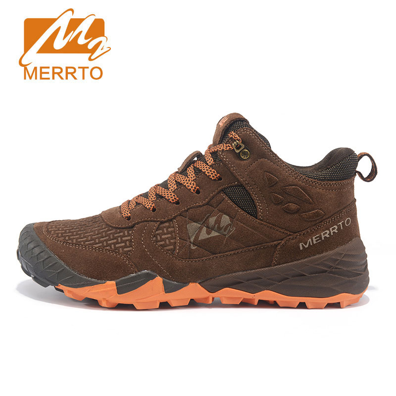 MERRTO Men's Winter Fall Leather Outdoor Hiking Trekking Boots Shoes Sneakers For Men Sport Climbing Mountain Boots Shoes Man mulinsen winter2017 tactical boots hiking shoes for men climbing mountain sport shoes man brand ankle boots men s sneakers
