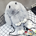 2016 new winter cute dead rabbit Shoulder Messenger Rabbit Plush grass wrapping bag chain free shipping