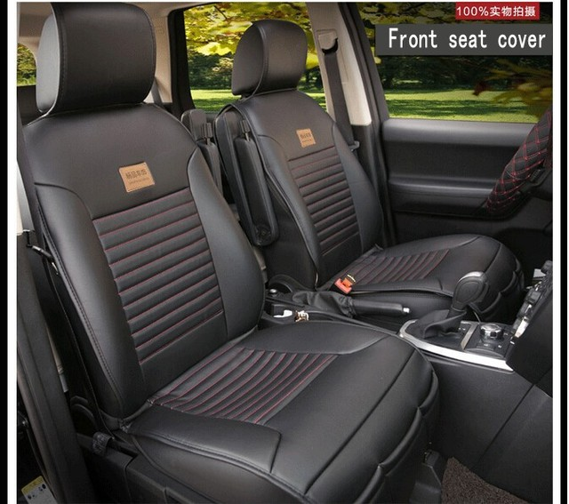 Car Seat Covers For 5 Seats Universal Auto Soft PU Leather Protector Styling Top