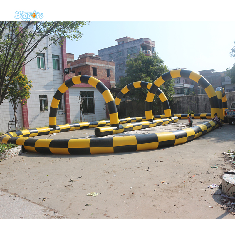 Outdoor Game Zebra Crossing Track Inflatable Go Karting Race Track Game ...