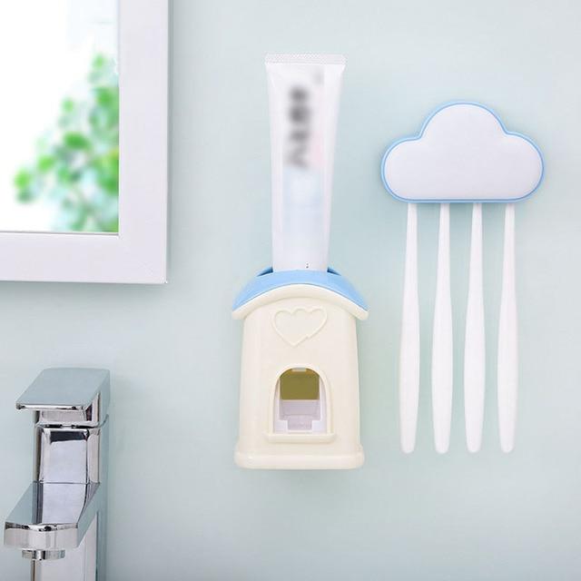 Dom chmura wzór dozownik pasty do zębów szczoteczki do zębów uchwyt na akcesoria łazienkowe zestaw piękny pasta do zębów pasta do zębów dla dzieci
