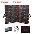 Dokio 100 Вт (50 Вт x 2 шт.) 18 в гибкие черные солнечные панели Китай Складная + 12 В контроллер 110 Вт панели солнечных батарей для автомобильного акку...