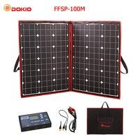 Dokio 100 W 110 W (55 W x 2 Pcs) 18 V гибкие черные солнечные панели Китай складной + 12 V контроллер 110 ватт солнечные панели для автомобильного аккумулятора