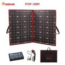 Dokio 100 W (50 W x 2 Pcs) 18 V гибкие черные солнечные панели Китай складной + 12 V контроллер 110 ватт солнечные панели для автомобильного аккумулятора