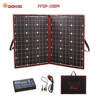 Dokio 100W (50Wx2Pcs) 18V Flexible Black Solar Panels China Foldable + 12V Controller 110 Watt Panels Solar For Car Battery