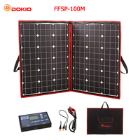 Dokio 100W (50Wx2Pcs) 18V Flexible Black Solar Panels China Foldable + 12V Controller 110 Watt Panels Solar For Car Battery