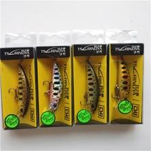 Tsurinoya Cebo Artificial de pececillo de hundimiento para trucha, Pesca de lubina, Wobbler, láser duro, largo, DW63, 4 unidades, 50mm, 5g