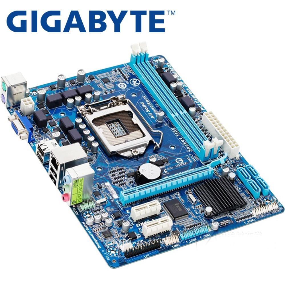 GIGABYTE GA H61M DS2 Desktop Motherboard H61 Socket LGA 1155 I3 I5 I7 DDR3 16G UATX UEFI BIOS Original H61M-DS2 Used