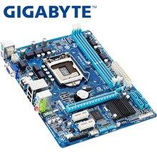 GIGABYTE GA-H61M-DS2 рабочего Материнская плата H61 разъем LGA 1155 i3 i5 i7 DDR3 16G uATX UEFI BIOS оригинальный H61M-DS2 используется