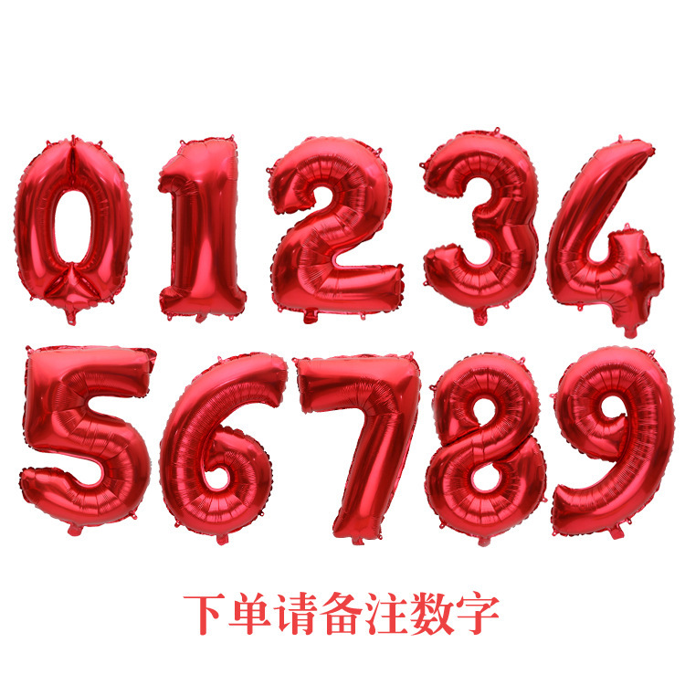 32 inches digital blue red balloon birthday party balloon decoration plate Numbers подставка для шаров stojak na balony держател in Ballons Accessories from Home Garden