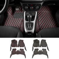 Car Interior Accessories Leather Floor Mats Carpets Foot Pads Kit For Jeep Compass 2017