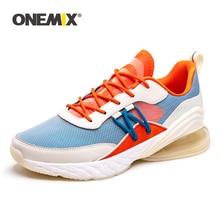 Onemix/мужские и женские кроссовки для прогулок, удобные спортивные кроссовки, летняя мужская Спортивная дышащая обувь для бега