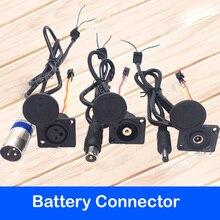 EBike Li ion Lityum pil şarj cihazı Kablo Delik Güç Kaynağı DC2.1 XLR Canon Kafa Video fiş konnektörü Tel Soket Erkek Dişi