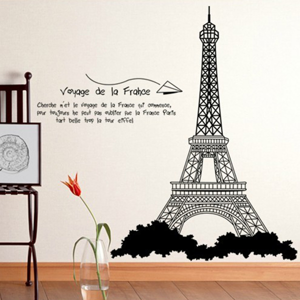 eiffel tower design wall stickers mural wall sticker home office living room bedroom wall stickers france