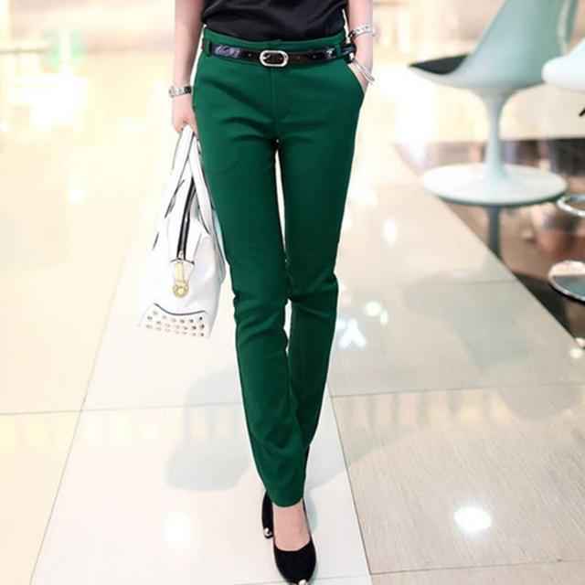 Pantalones para mujer Primavera-Otoño Nueva Señora de la Oficina 2016 Mujeres pantalones Haren los Pantalones Del Lápiz de Las Señoras Pantalones Casuales de Moda femenina