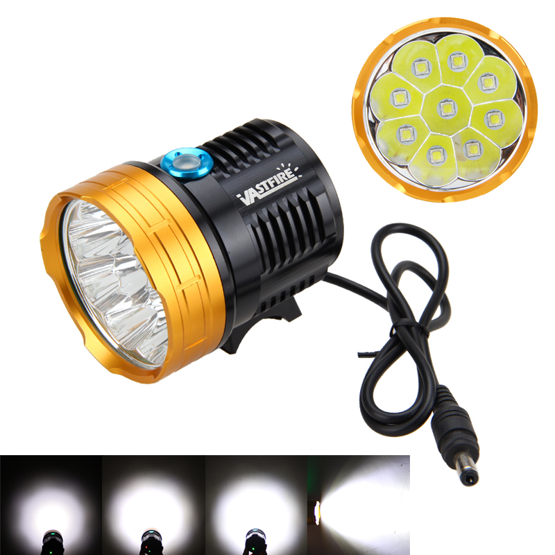 Waterproof 15000LM 9x XM-L2 LED Head Front Bicycle Lights Bike Lamp Light Headlight without Battery hot sale 15000lm 9x xm l2 led cycling lights bicycle light bike lamp headlamp with battery pack