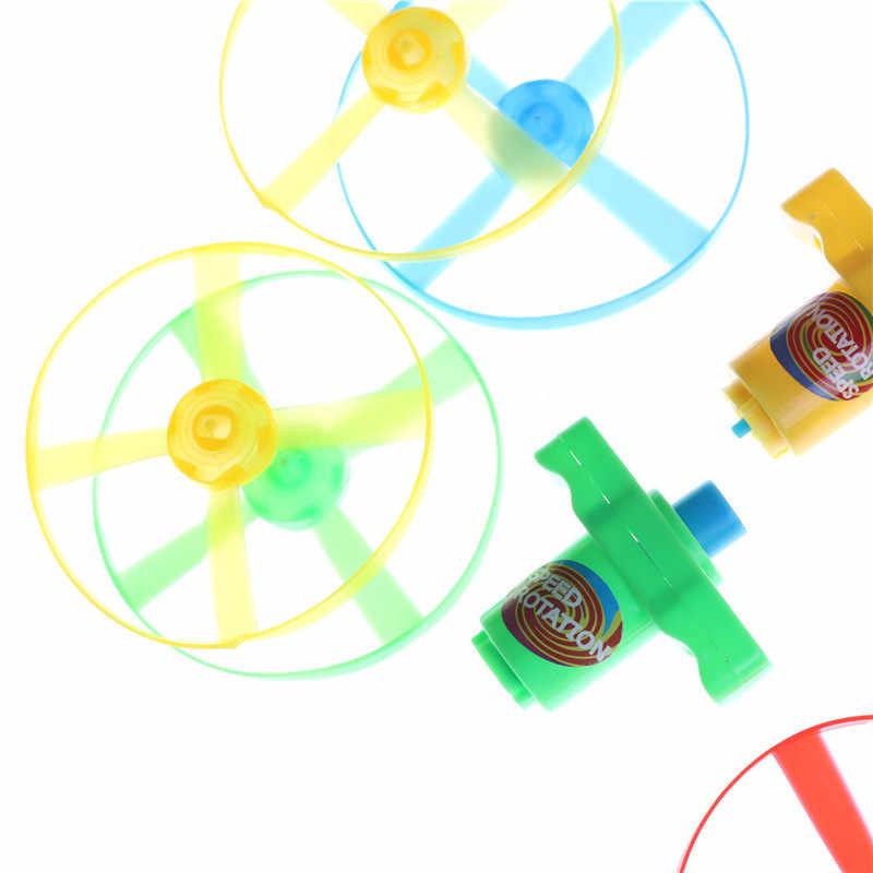 플라스틱 자이로 스코프 어린이 장난감 체인 플라잉 소스와 비행 장난감 아이 선물 7.5*5 cm