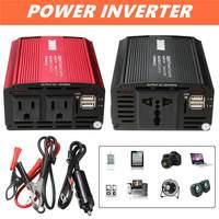 300W Power Inverter 12 V to AC 110/220 Volt 2 USB Max 600 Watt Modified Sine Wave LCD Digital Car Charge Converter Transformer