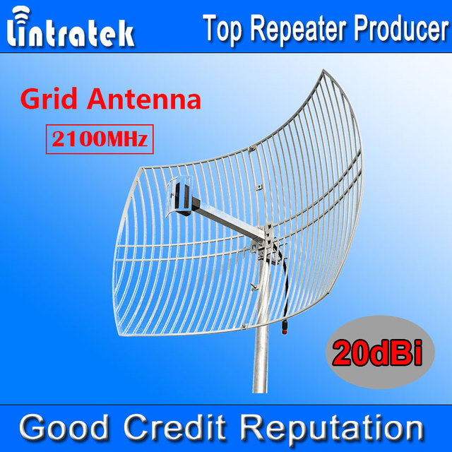 Antena 20dBi 3G Red 3G 2100 MHz Antena Exterior Gran Cobertura para Teléfonos Móviles de La Señal UMTS 2100 MHz Amplificador de Refuerzo repetidor