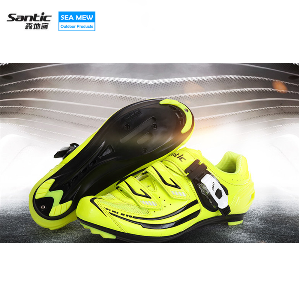 Santic Professional Road Bike Cycling Shoes Mens Outdoor Sport Bike Bicycle Sneaker Self-locking Shoes Zapatillas Ciclismo veobike men long sleeves hooded waterproof windbreak sunscreen outdoor sport raincoat bike jersey bicycle cycling jacket
