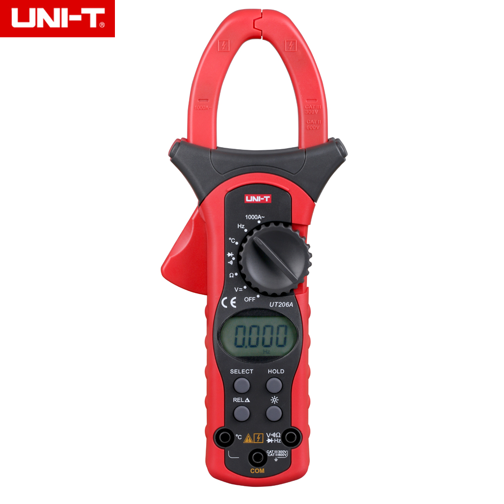 UNI T UT206A 1000A Digital Clamp Meters Earth Ground Megohmmeter Multimeter Voltage Current Resistance Insulation Tester