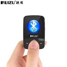 Ruизу X50 Спорт Аудио Мини Bluetooth Mp3 плеер Музыка Аудио Mp 3 с радио цифровой Hi-Fi экран Fm Flac Usb 8 Гб без потерь