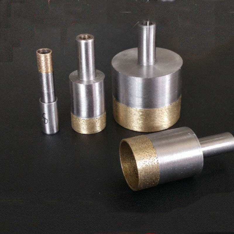 Diamond Coated Hole Saw Set Core Drill Bit Tile Marble Glass Ceramic Porcelain best price 10pcs 3mm 50mm hole saw drill bit set diamond tile glass marble ceramic cutter power tool set