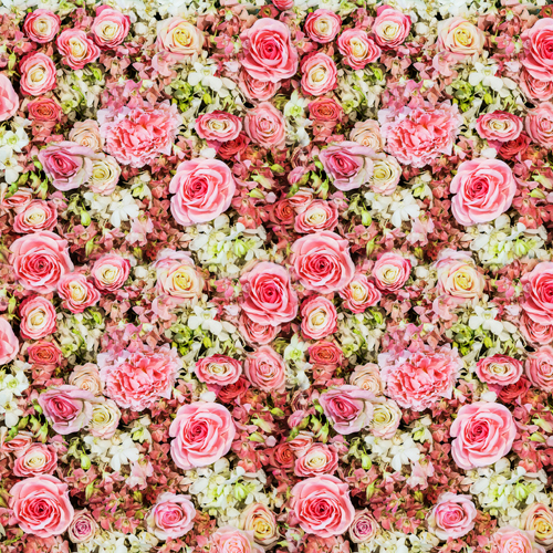 HUAYI Pink Flowers Bed art fabric cloth Photography Backdrop Vintage Floral Wedding Port ...