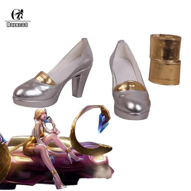 LOL KDA Evelynn Cosplay Shoes K//DA Evelynn High Heels For Women Hot Game cos