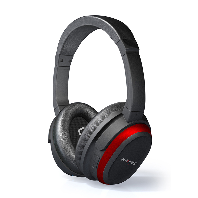 W-King 2018 BH800 Great Price Red Wireless Headphone Active Noise Cancelling Bluetooth Headphones Over-Ear Game Headset game over
