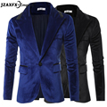 Brand New Men Blazer Suede Fabric Male Slim fit Suit Party Wear Suit Men Casual Jacket costume homme blazer masculino