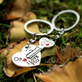 New 1 Pair Couple I LOVE YOU Letter Keychain Heart Key Ring Silver Plated Lovers Love Key Chain Souvenirs Valentine's Day gif ln