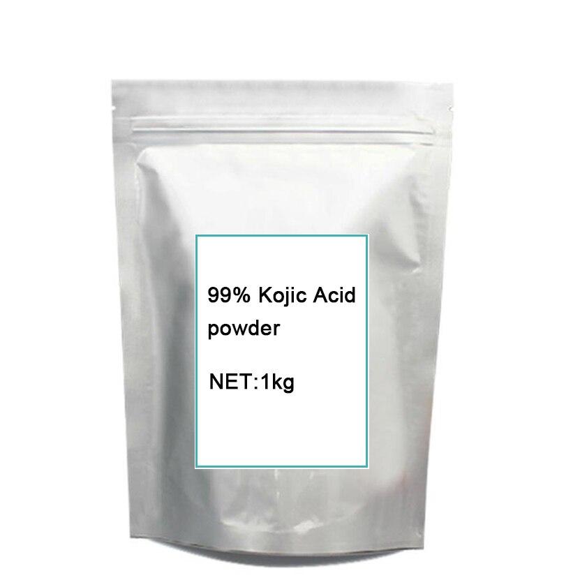 1 KG cosmetic grade puro 99% Acido Cogico po-wder sbiancamento della pelle schiarente della pelle Spedizione gratuita
