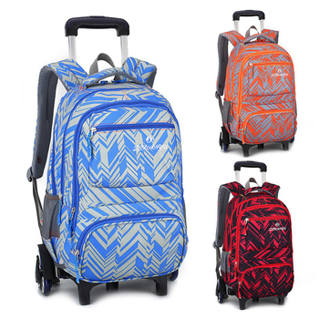 Fashion Kids Travel Trolley Backpack 6 wheels Girl s Trolley School bags Children s Travel luggage