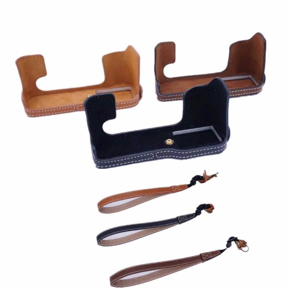 Leather PU Half Case for Fuji Fujifilm X-T20 / X-T10 / XT20 / XT10 / X T20 / X T10 Digital Camera Brown/Black/Coffee