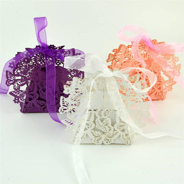 50 pcs butterfly candy box wedding favors decor creative chocolate 50 pcs butterfly candy box wedding favors decor creative chocolate candy gift boxes wedding party candy negle Gallery