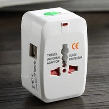 Hot sale World Universal AC Power Socket converter Plug Adapter US EU UK extension International travel adaptor free shipping