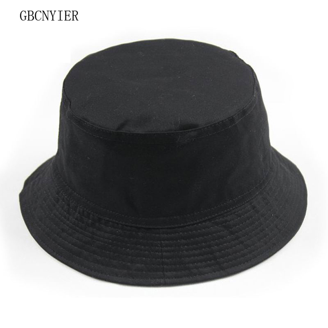 bf7ae236ba6 GBCNYIER Casual sun hat cap Fishing Bucket Hats Mountaineering cap unisex  cotton two sided wear 9color 1pcs