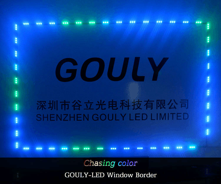 Rgb Chasing Color 100m Front Decoration Led Window