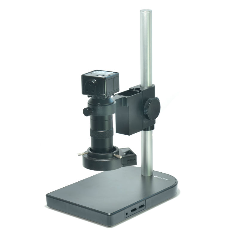 2 0MP USB Microscope Camera Industrial Microscopes USB Camera 100X Zoom Lens Table Stand Calibrator Measurement