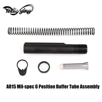Tactical Hunting AR15 Mil spec 6 Position Buffer Tube Assembly / Kit with Mil spec Size Stocks AR15 Hunting Accessories