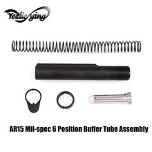 Tactique hunting AR15 Mil-spec 6 Position Buffer Tube Assembly /Kit with Mil-spec Taille Stocks AR15 Accessoires De Chasse