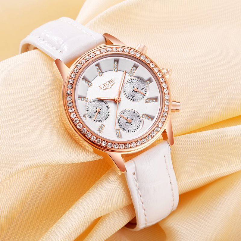 Relogio feminino Women Watches LIGE Luxury Brand Girl Quartz